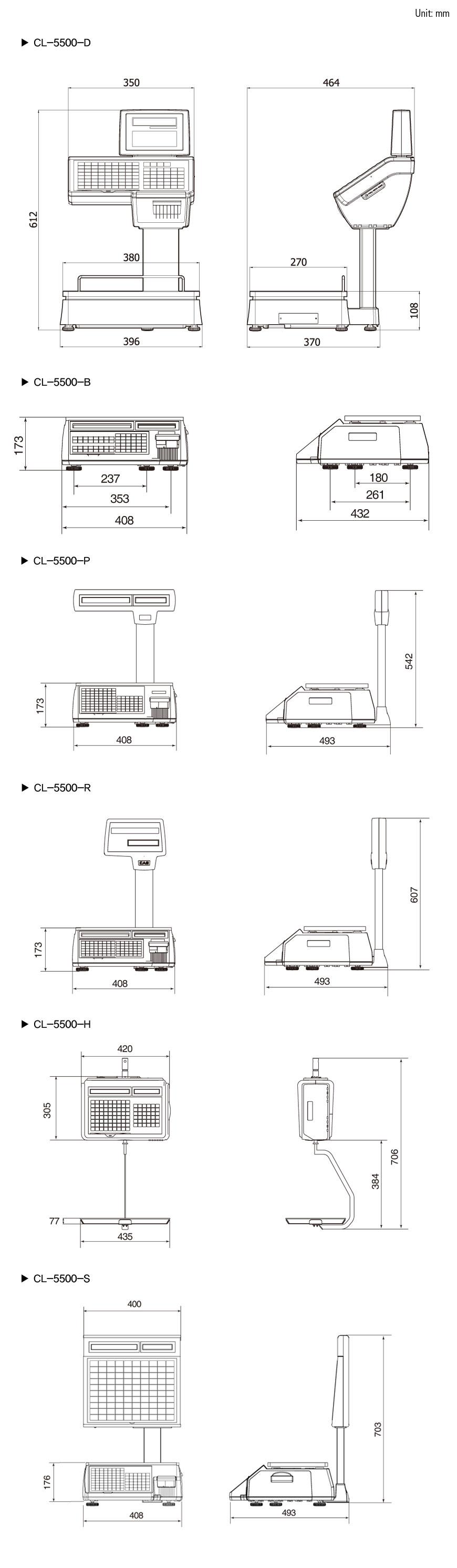 41a6eef71a Retail-Cân điện tử in nhãn CAS CL5500-P Cân siêu thị