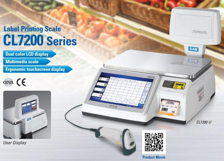 f7b23cf3f6 Retail-Cân điện tử in nhãn cảm ứng CAS CL7200 Cân siêu thị
