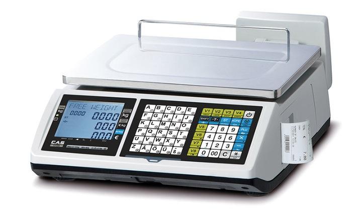 56d2fc9445 Market-Cân điện tử in hóa đơn CAS CT-100B 6Kg/2g cân siêu thị điện tử Cân siêu thị