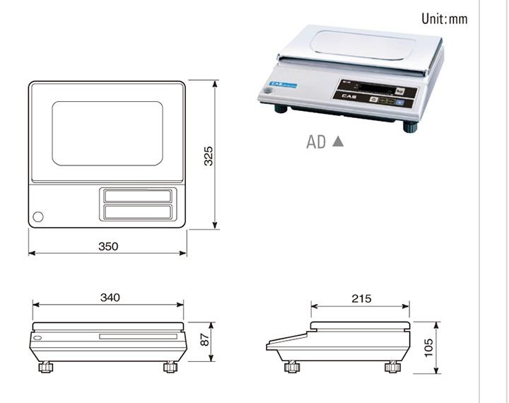 e3cad835e6 Basic scale-Cân bàn điện tử CAS AD-H 30kg cân điện tử Cân thông dụng